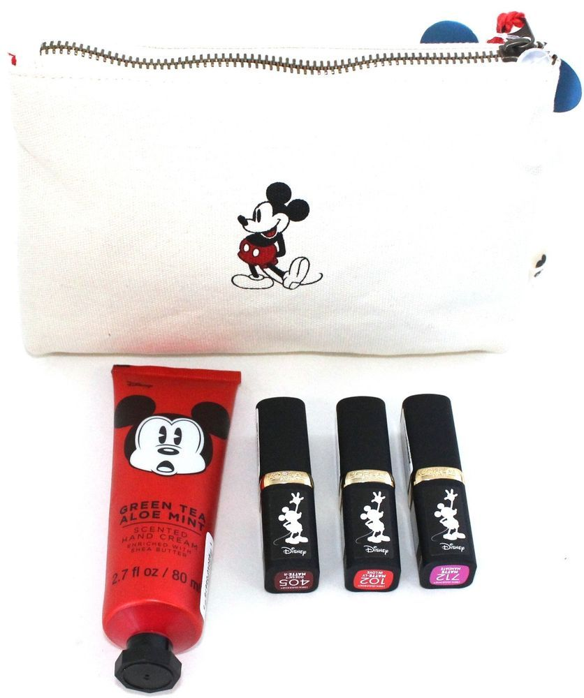 160bd0a0d42a Disney Mickey Mouse Makeup Bag Lipstick Handcream Matte Ly Man