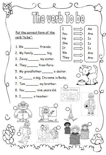 8aaebe33fc5e28650e7669b0bd6c970b Verb To Be Worksheets For Esl Beginners on verbs for home, verbs for math, verbs for science,