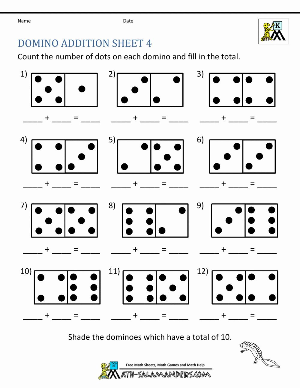 Worksheet For Kindergarten Math Addition Atividades Para Educacao Infantil Matematica Pre Escolar Educacao Infantil Addition worksheets using dominoes