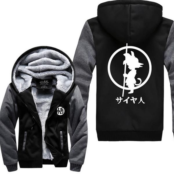 Good New Winter Jackets And Coats Dragon Ball Z Hoodie Anime Son Goku Hooded Thick Zipper Men Sweatshirts Free Shipping Wide Varieties Hoodies & Sweatshirts