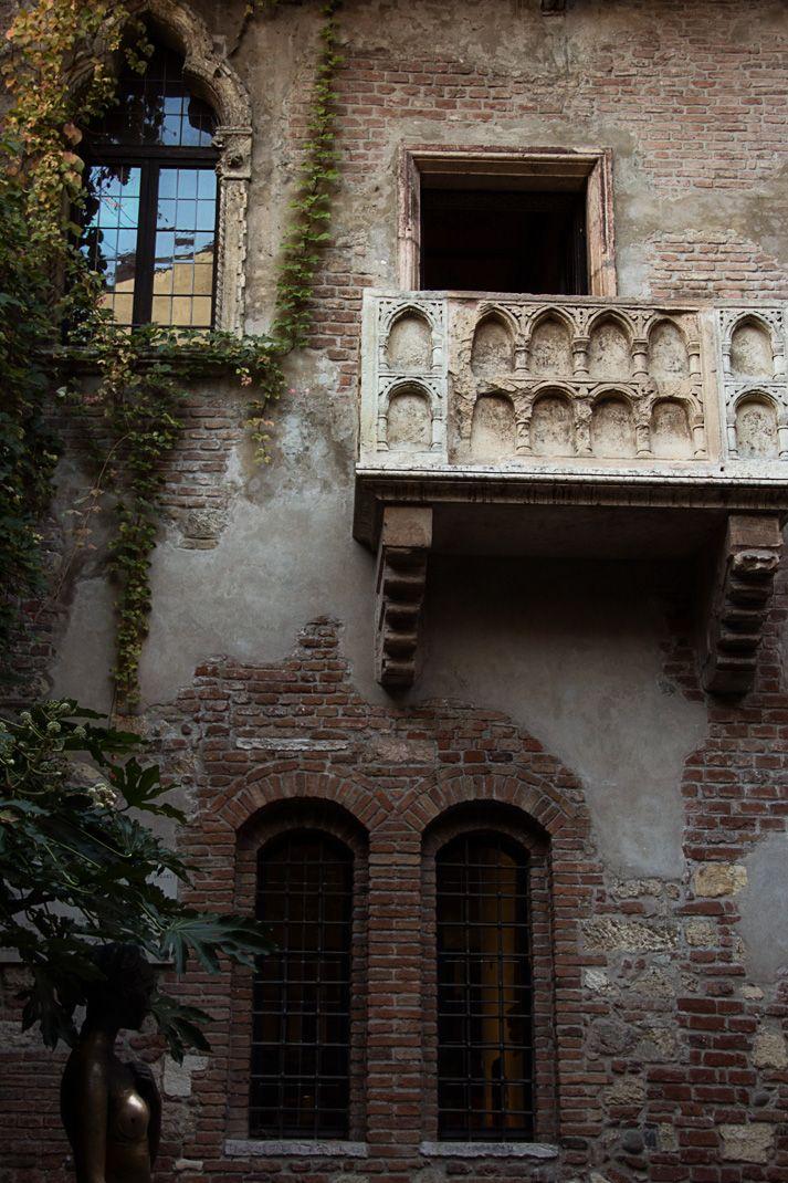 Juliet's balcony in Verona Italia