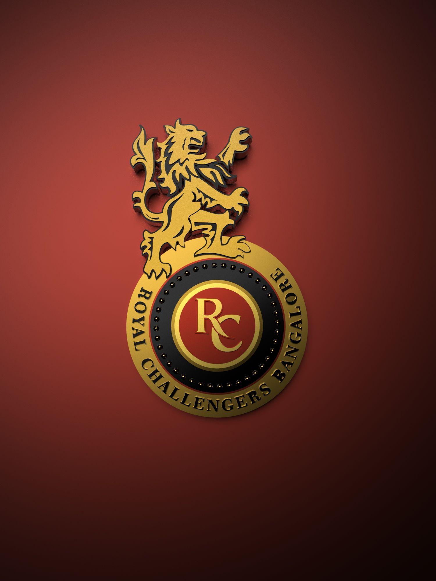 Royal Challengers Bangalore IPL metallic logo poster