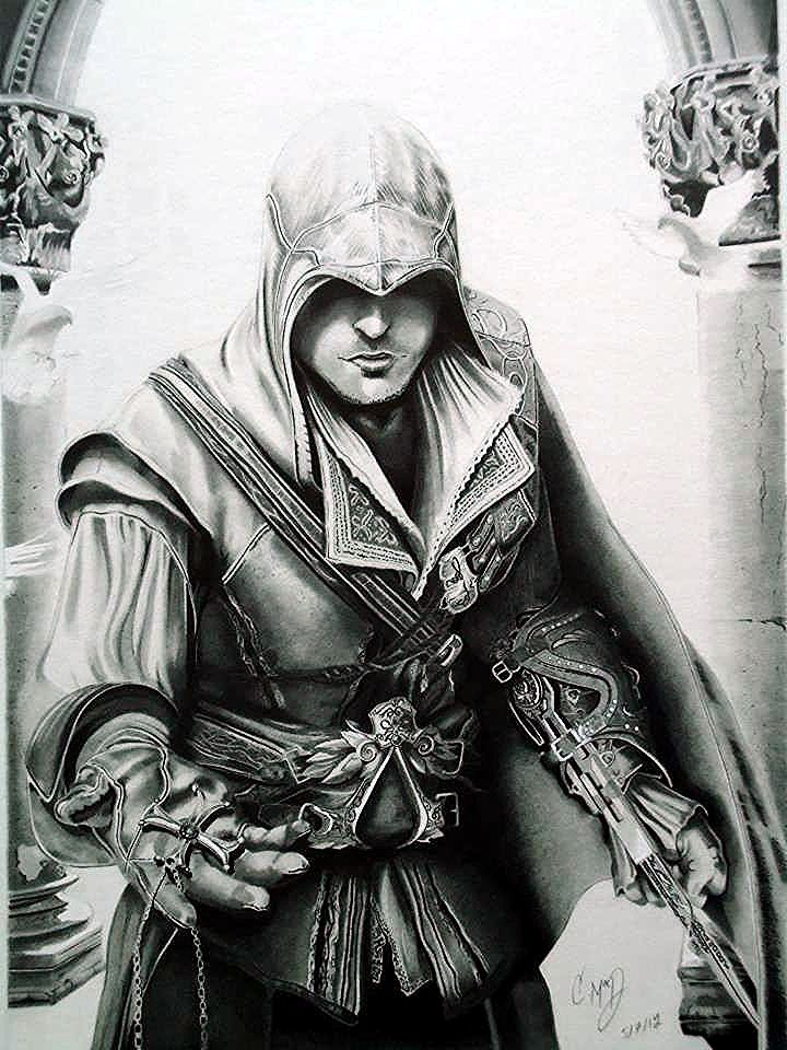 assassin__s_creed__s_ezio_by_cr1msoncloud-d4z3udm