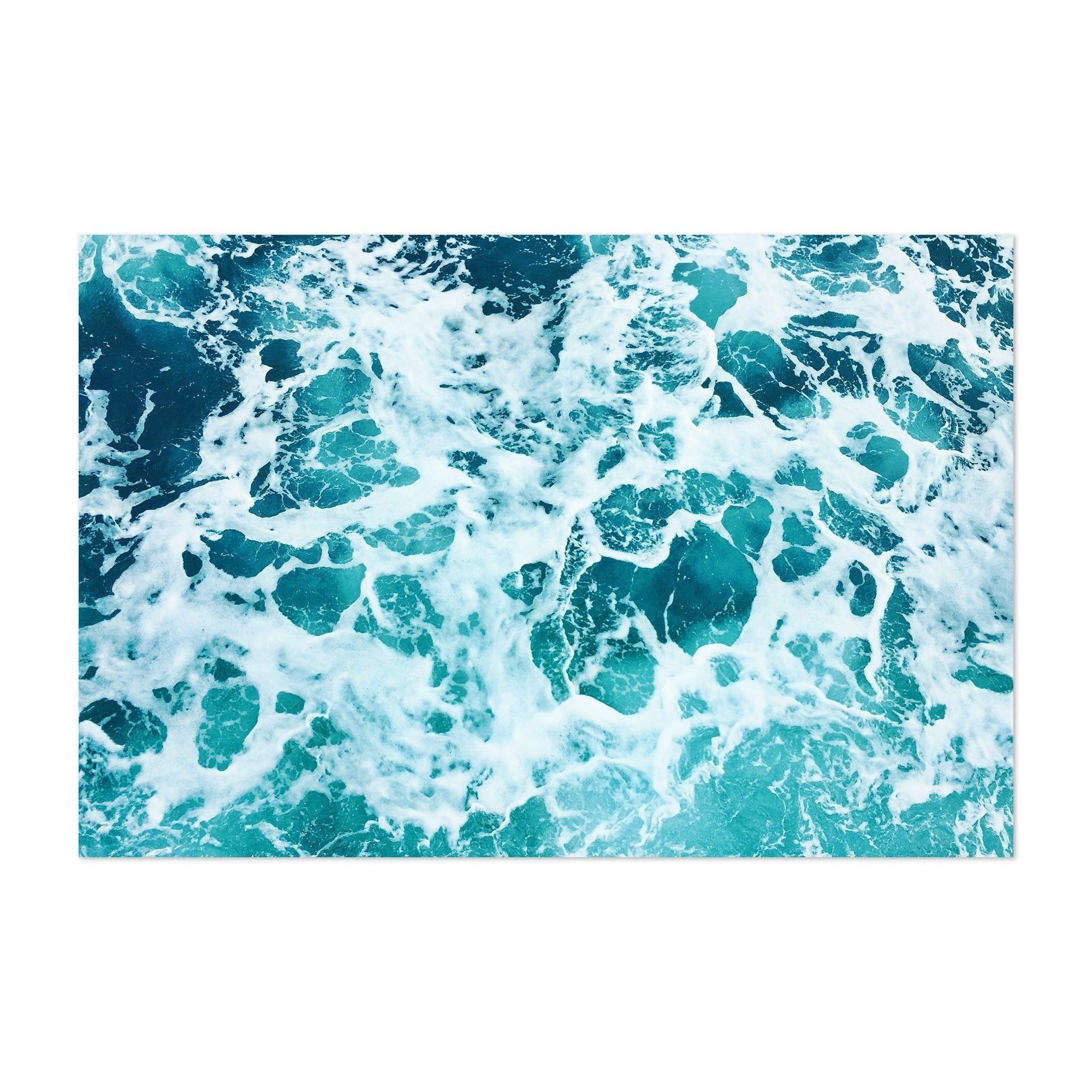 Noir Gallery Ocean Sea Foam Beach Photography Unframed Art Print Poster 11 X 14 Blue Noir Gallery Posters Art Prints Unframed Art