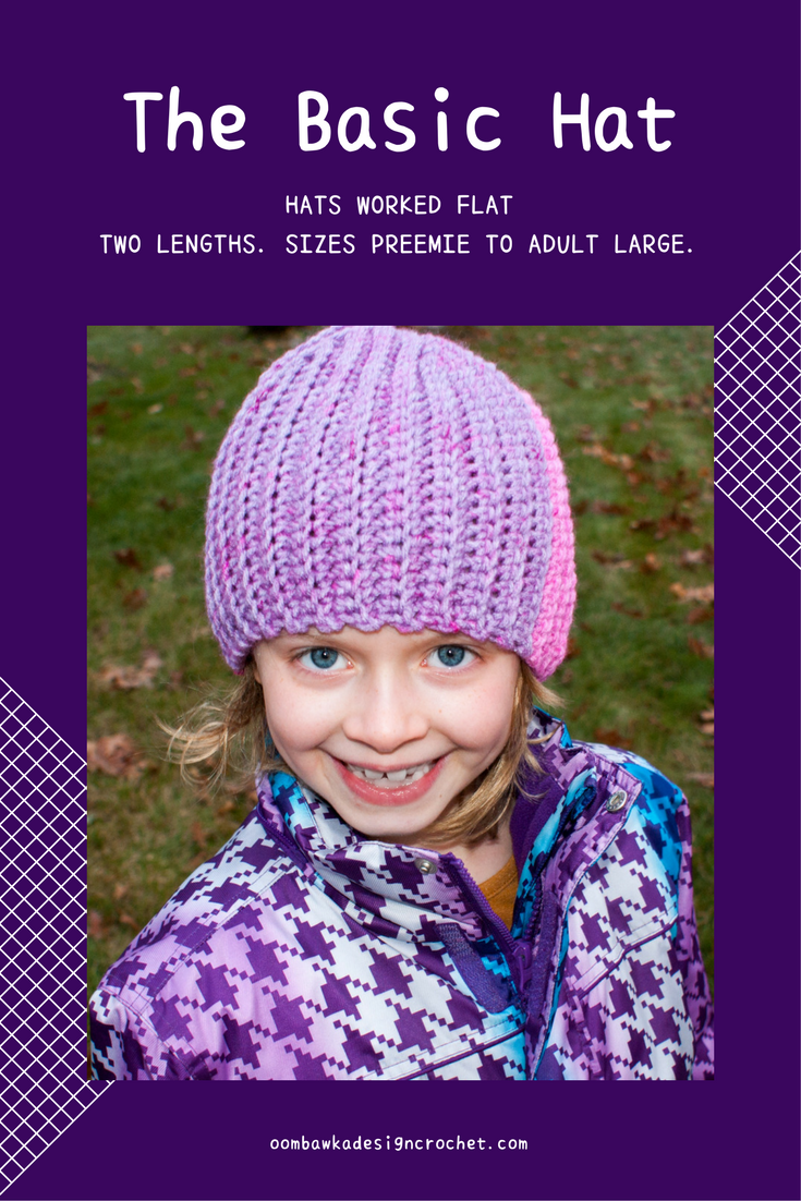 4f7e3dba172 I have created another hat you can work flat - this hat is crocheted in  medium weight  4  yarn and it is fitted to the curve of your head.