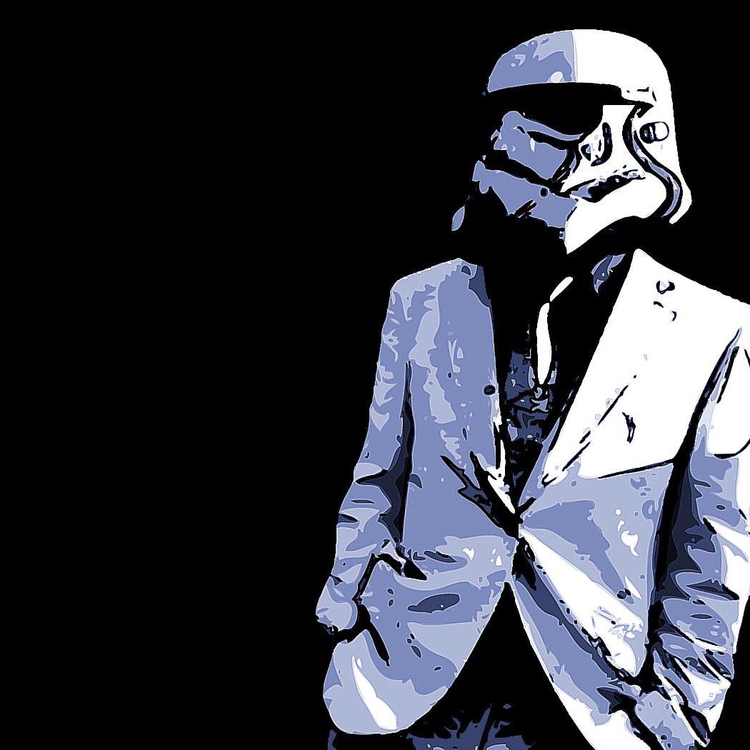 Stormtrooper in a suit ipad wallpaper l star wars - Stormtrooper suit wallpaper ...
