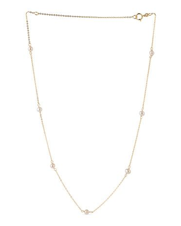 Made In Italy 14k Gold Freshwater Pearls Necklace Necklaces T J Ma