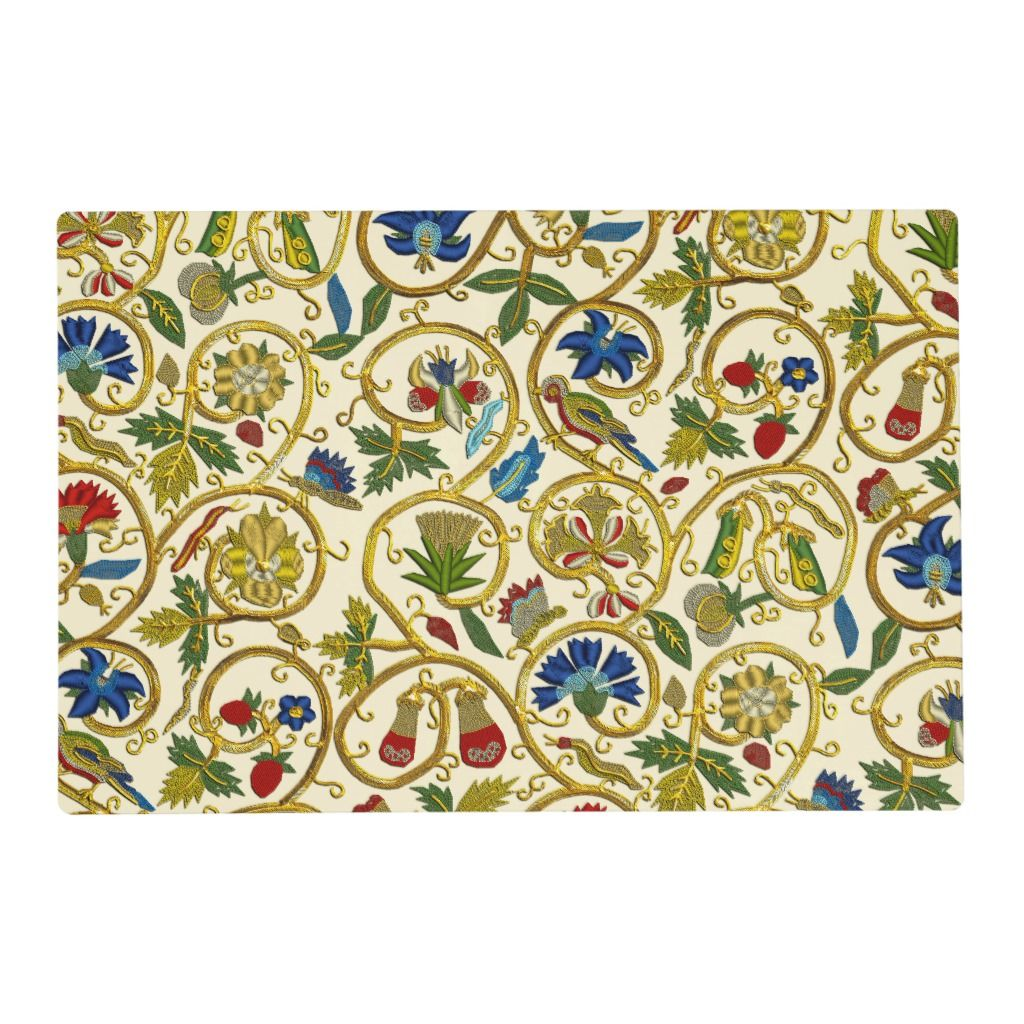 This product features my 'Elizabethan Swirls' design, which is an printed imitation of typical Elizabethan embroideries and goldwork.