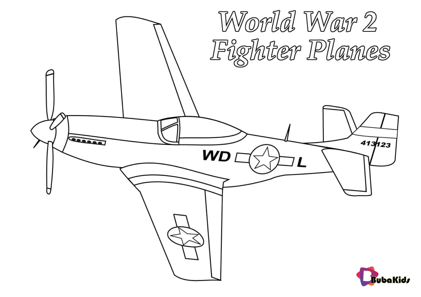 P 51 Mustang World War 2 Fighter Planes Coloring Pages Free Printable Coloring Pages For Free Printable Coloring Pages Coloring Pages Free Printable Coloring