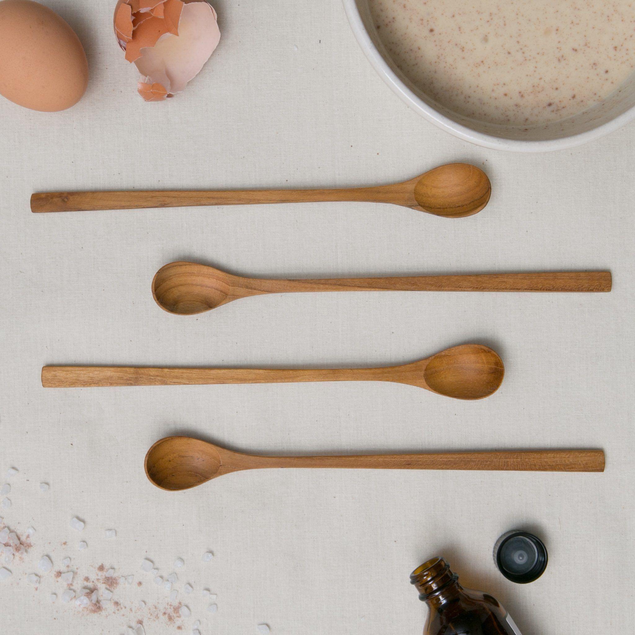 4 Teak Long Tasting Spoons   Magnolia Market | Chip U0026 Joanna Gaines