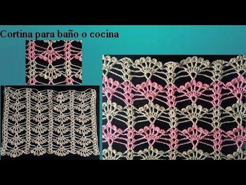Cortina A Crochet Para Cocina O Bano Youtube Pontos De Croche Blusas De Croche Fazer Flor De Croche