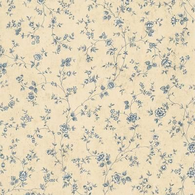 The Wallpaper Company 20.5 In. W Blue Floral Trail