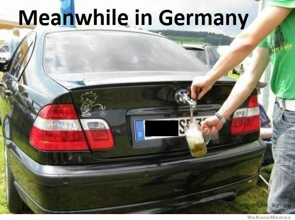 Meanwhile in Germany....I haven't seen this over here, but I could believe it.
