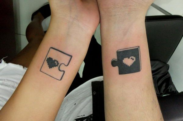 11 cute puzzle piece matching tattoo | tattoos