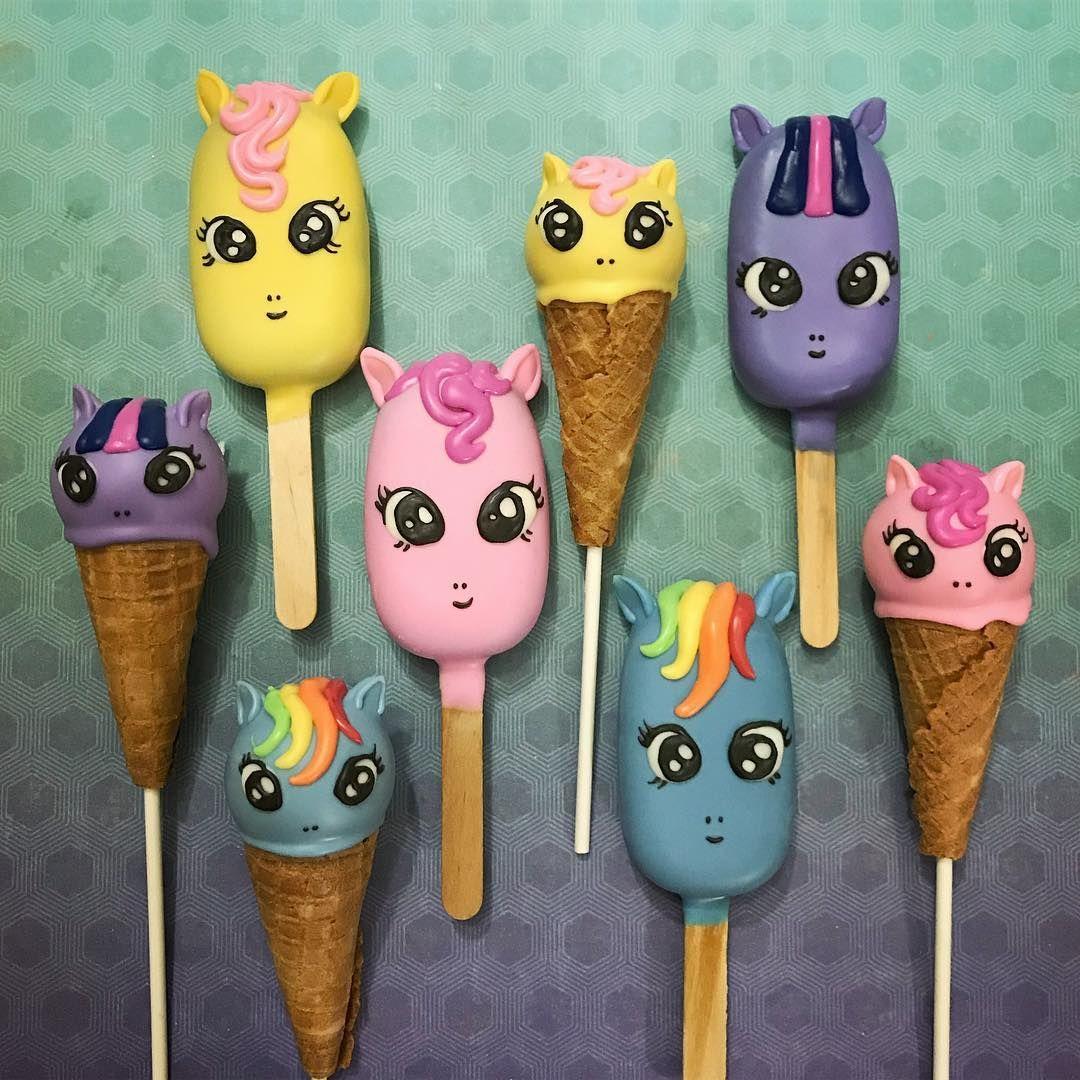 My Little Pony Cakesicles Ice Creams By Crazepop Ice Cream Cake Pops My Little Pony Cake Little Pony Cake