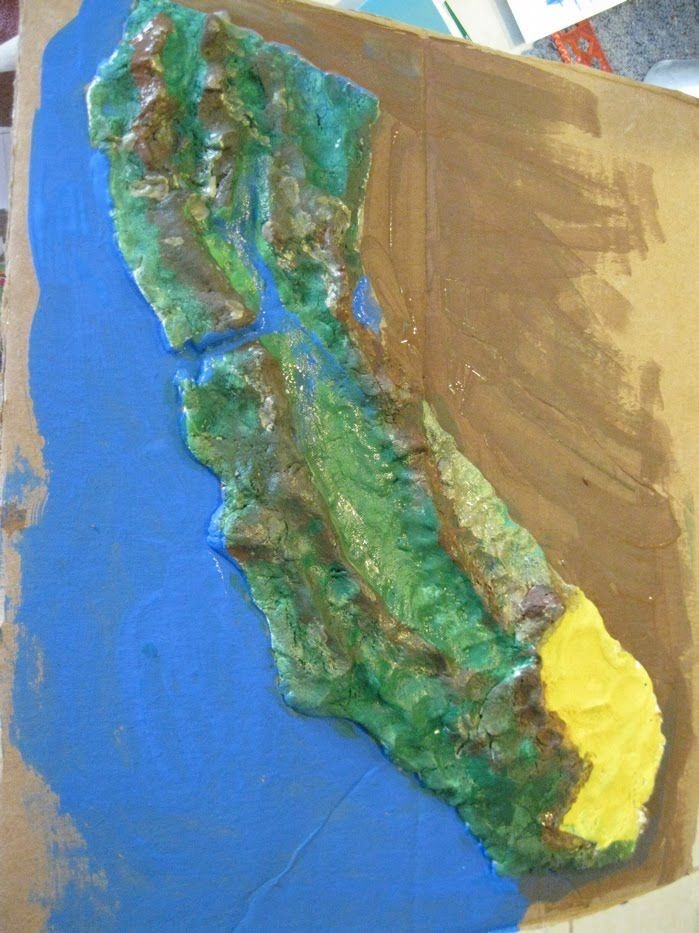 Sea Star Academy: Salt Dough Map of California | Unit Study ...