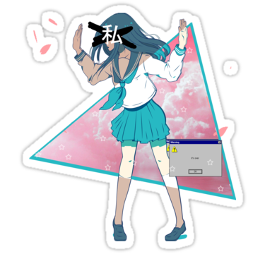 Anime Stickers By Sosfia Redbubble Anime Stickers Stickers Tumblr Stickers