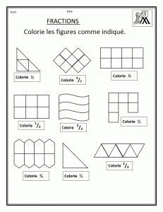 Découvrir les fractions en CM1 : un pack de fiches ...