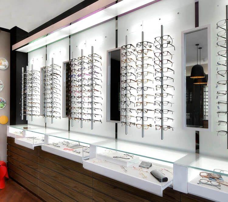 Optical Wall Decoration Ideas Shop Interior Design Display Cabinet Shop Decoration