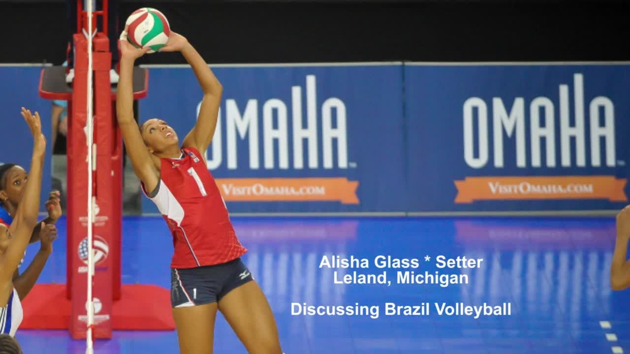 Alisha Glass Talking Usa Volleyball Cup Usa Volleyball Volleyball News Brazil Volleyball