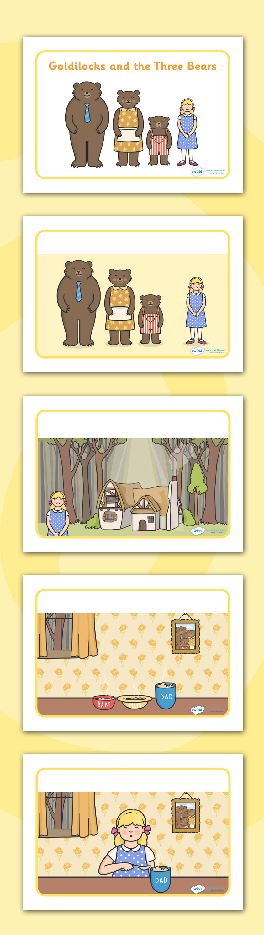 Twinkl Resources >> Goldilocks and the Three Bears Story Sequencing ...