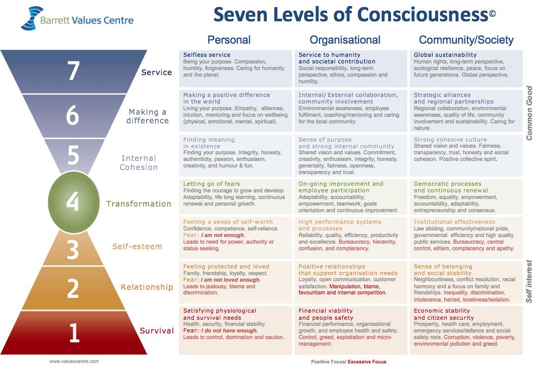 Barrett's Seven Levels of Consciousness — Building the Life You Want LLC