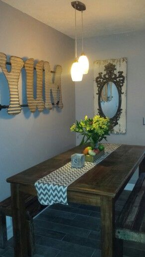 """Reclaimed Metal Letters Beauteous My Dining Room""""yum"""" Sign Made From Corrugated Metal Letters 2017"""