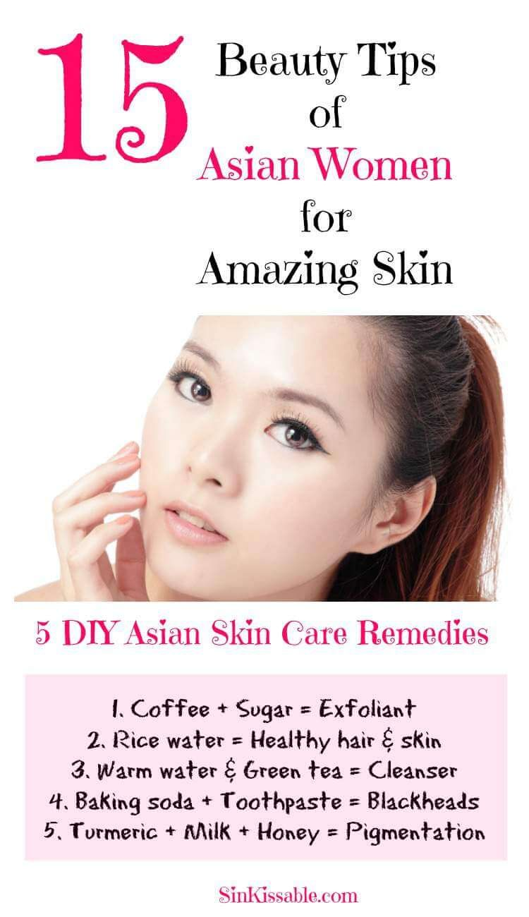 Asian women beauty tips, secrets and products for healthy skin