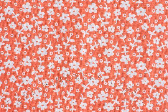Half Yard Wallpaper Flowers in Coral Children by FreshModernFabric, $3.50