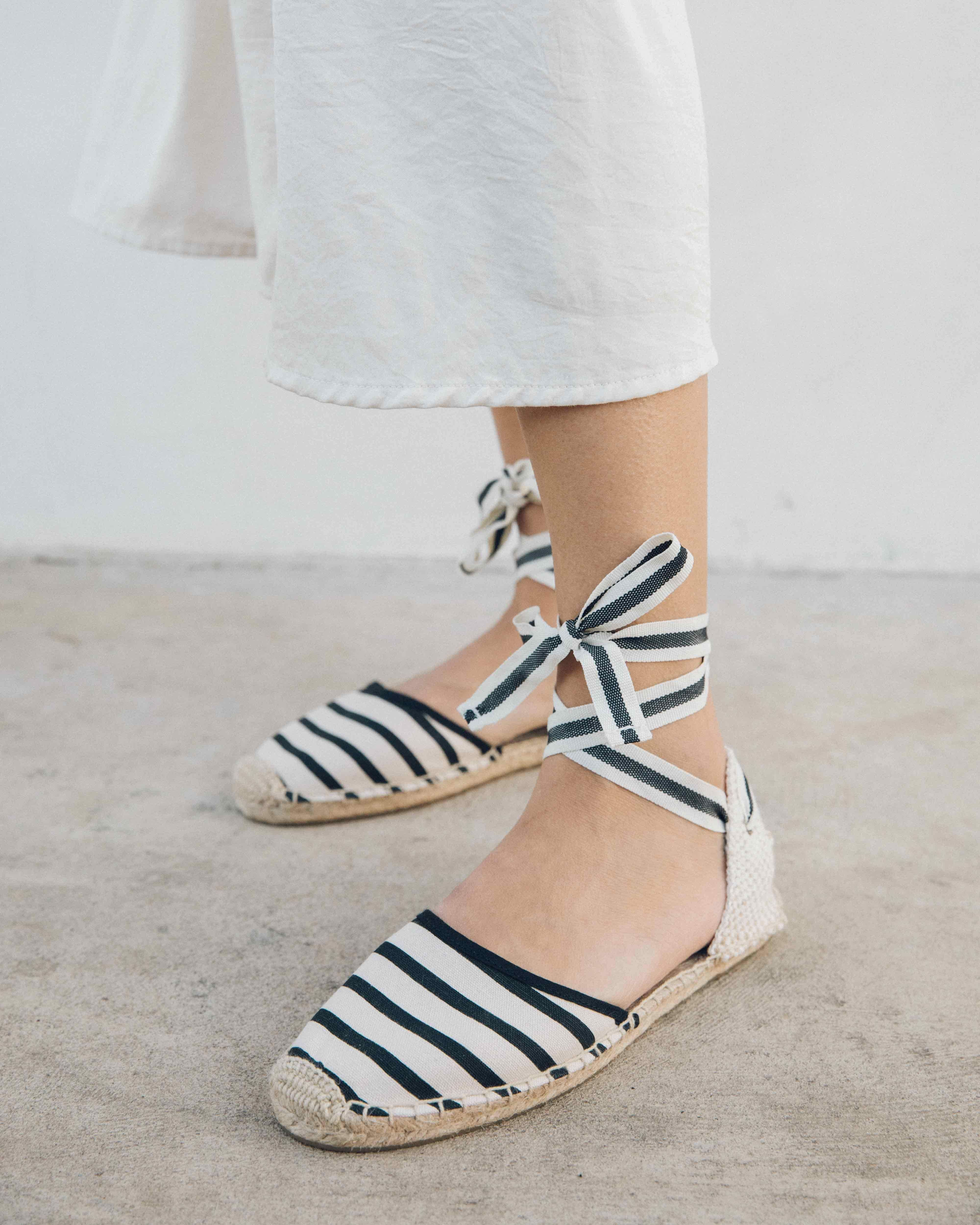 a6fde88ba7e Classic Striped Sandal - Natural Black / 5 | for the wish list ...