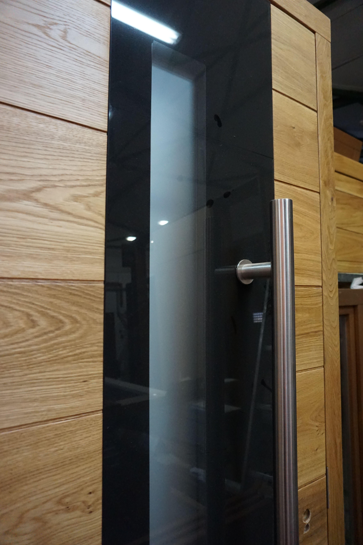 Pasywne zewnętrzne drzwi drewniane R&B