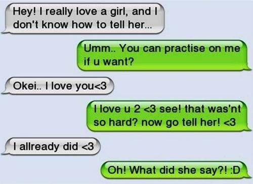 text conversations with a girl you like