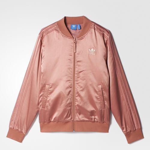 adidas pastel rose jakke