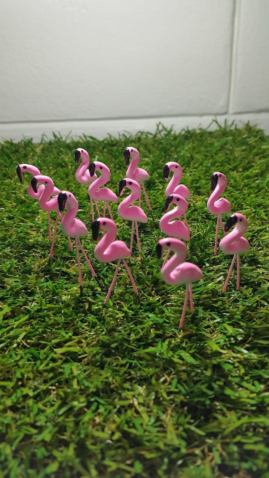 25 Tiny Flamingo Pink Colors Fairy Garden Decor Yard Dollhouse ...