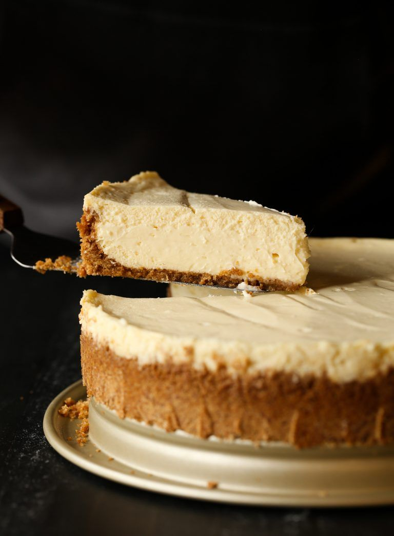 Perfect Cheesecake doesn't have to be intimidating! I've created the creamiest, smoothest cheesecake recipe that is easy to make and will always turn out perfect. PLUS I have some tips that will guarantee success! #cheesecake