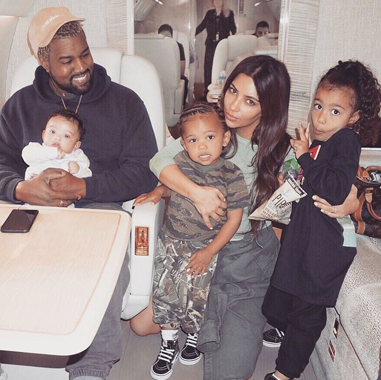 Father Of 3 Kim Kardashian Praises Kanye West For Being Such A Good Dad To Our Babies Kim Kardashian Kardashian Kanye West