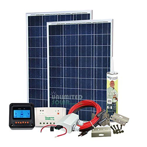 Unlimited Solar 200 Watt 12 Volt Sunvic Rv Solar Panel Kit Check Out This Great Product This Is An Rv Solar Panels Solar Panels For Home Solar Panel Kits