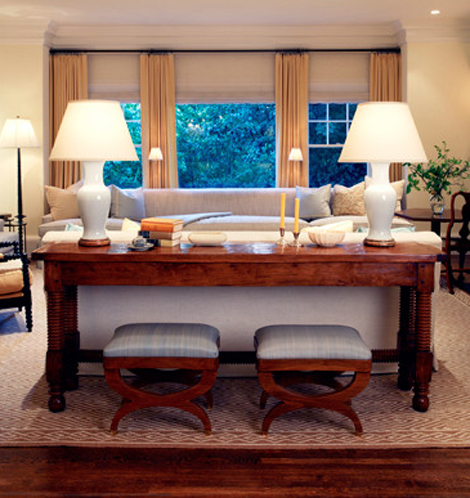 Console Tables Behind A Sofa Sofa Table Decor Timeless Living Room Traditional Family Rooms