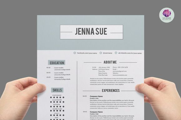 Chic , modern resume package by Chic templates on Creative Market