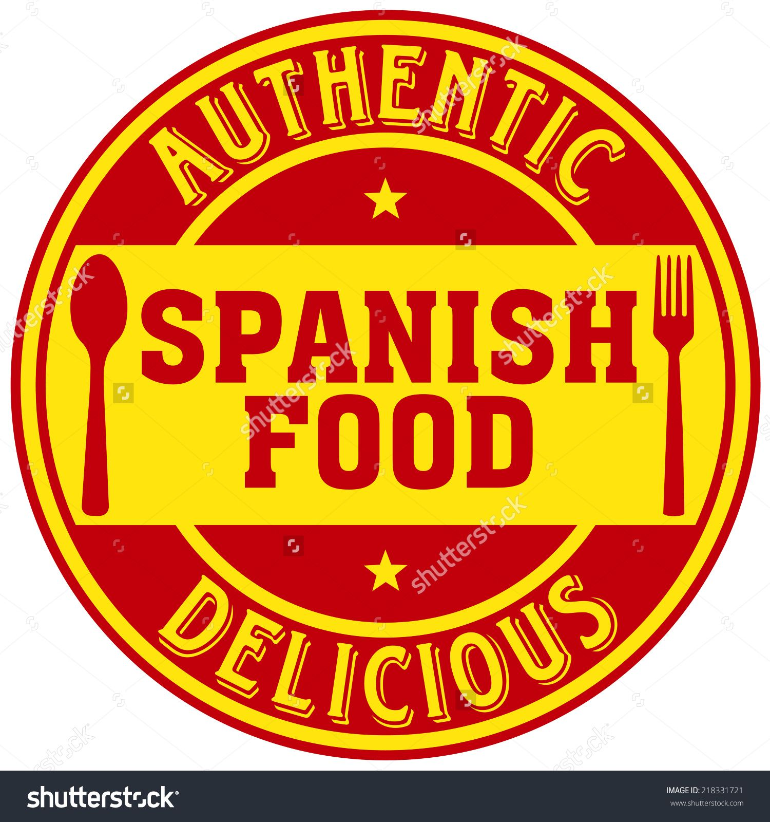 Spanish Food Label Ilustración vectorial en stock