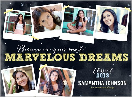 Marvelous Dreams Graduation Announcement from Shutterflycom