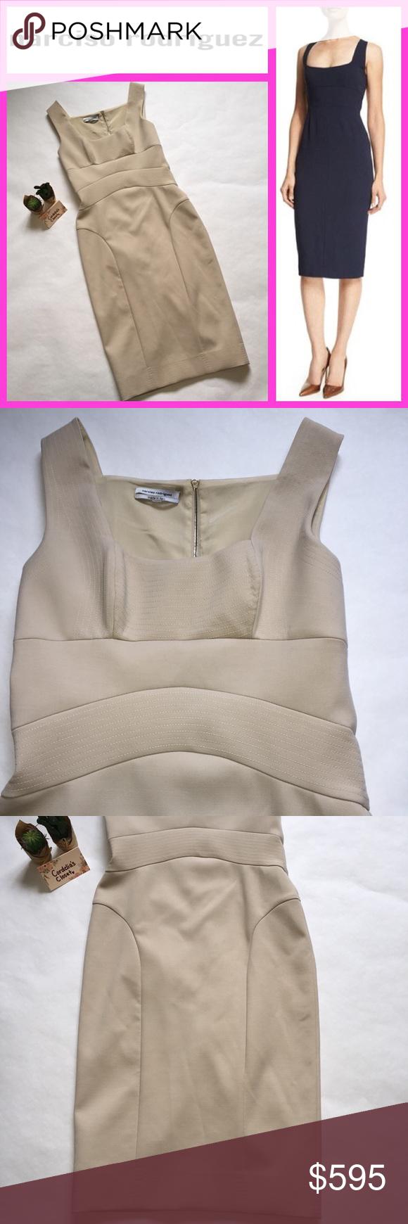 9b9039bf3b9c Narciso Rodriguez Bodycon Crepe Sheath Nude Dress • name brand: Narciso  Rodriguez • style #