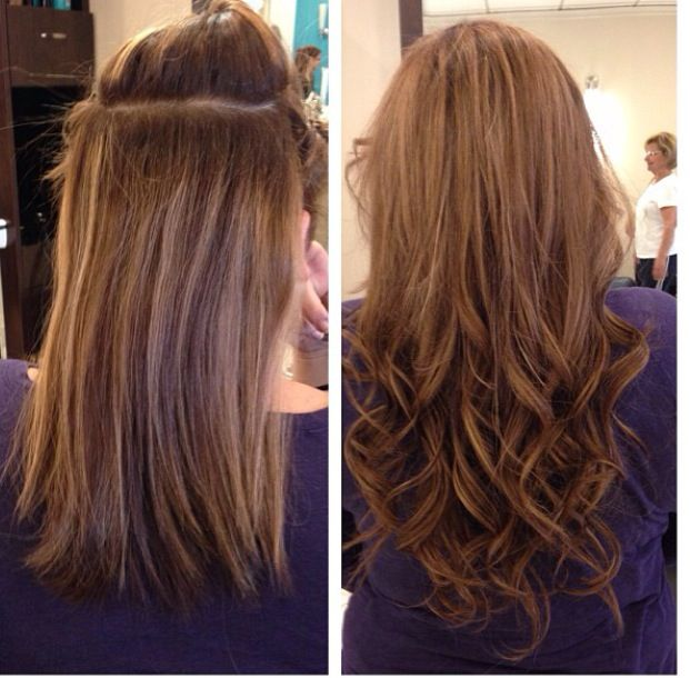 Hair extensions before and after hair extensions pinterest hair coloring pmusecretfo Images