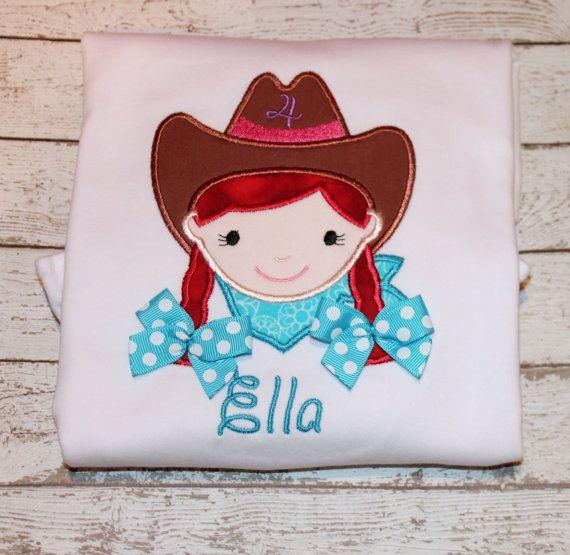 Girl S Cowgirl Birthday Shirt On Etsy 24 00 Cowboy Birthday