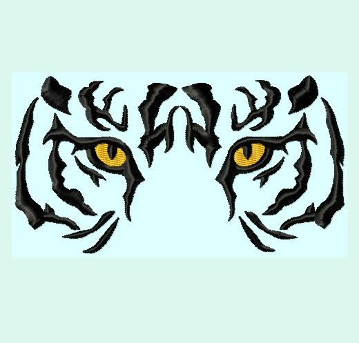 tiger eyes embroidery designs 6 sizes instant download embroidery rh pinterest co uk