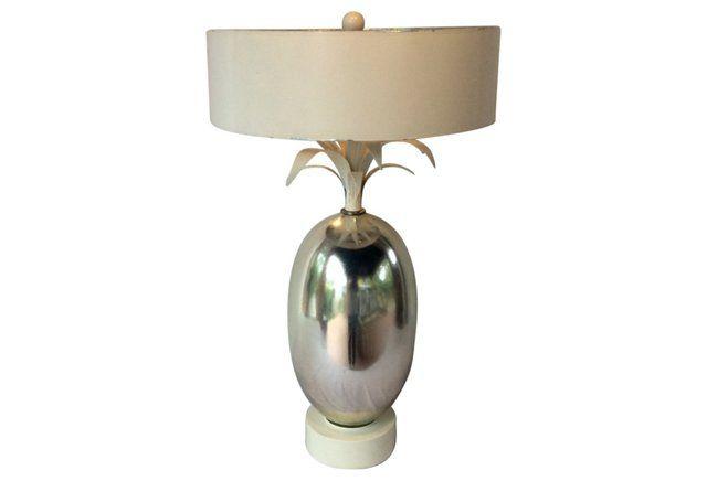 Mercury Glass Pineapple Lamp
