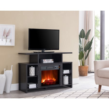 Bold Flame Acadia Fireplace Tv Stand Black Modern Style Living Room Home