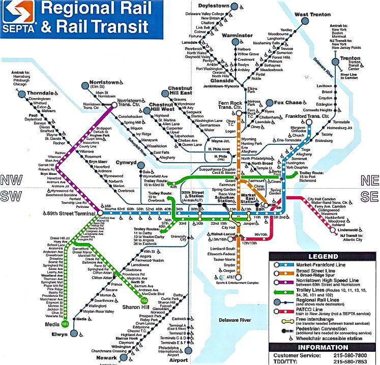 Purchase SEPTA Passes For For Our Fast Track To Philly Program - Philly train map