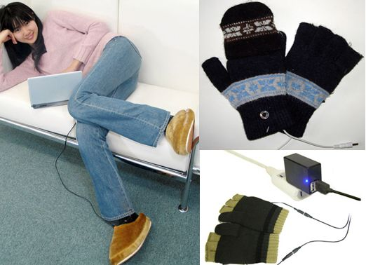 USB Warmer Slippers (Wired/Wireless) and Gloves - #only2us