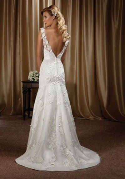 becf82c7f94 36 Low Back Wedding Dresses